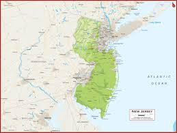 Map Nj New Jersey Physical State Map