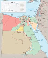 Map Egypt Egypt Map Africa Cairo Nile River And Suez Canal
