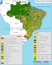 Thematic Maps Brazil Agriculture Map