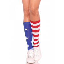 Patriotic Halloween Costumes Stars Stripes Patriotic Knee Socks 4th July