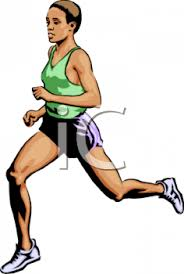 Black Woman Running in a Race
