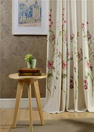 new top continental embroidered blackout curtains 3 pattern voile