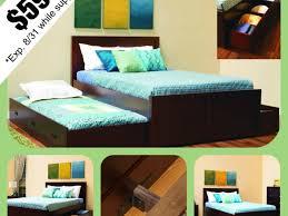 Full Size Trundle Bed Frame Bed Ideas Merlot Full Size Bookcase Captains Bed Frames