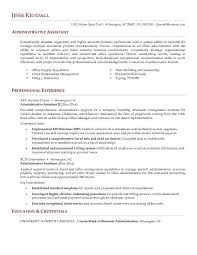 Sample Resume For Admin Assistant by Objective For Resume Administrative Assistant Best Business Template