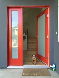 Home Colour Design by Fancy Design Home Exterior Door Ideas Featuring Red Color Front