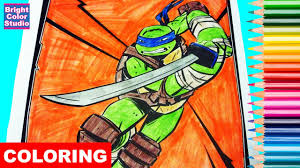 coloring pages leonardo teenage mutant ninja turtles coloring book