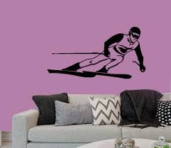 popular ski decorations buy cheap ski decorations lots from china wall decals boy skiing winter sport people home vinyl decal sticker kids nursery baby room decor