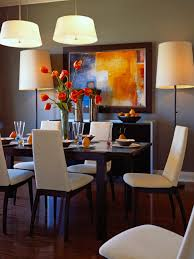 Artwork For Dining Room Cozy Orange White Accent For Dining Room Decorating Ideas With