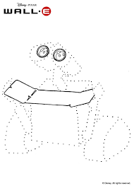 dot to dot picture with wall e coloring pages hellokids com