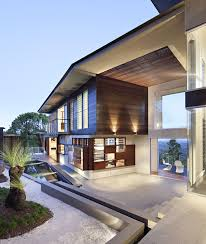 luxury modern residence with breathtaking views of glass house