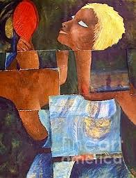 African Blonde Painting by Veroniccah Muwonge - African Blonde ... - african-blonde-veroniccah-muwonge