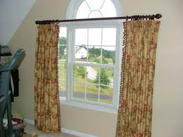interior farm house floral patterned window valance combined with