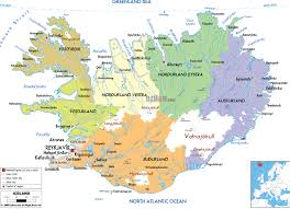 Detailed Map Of Germany by Maps Of Iceland Detailed Map Of Iceland In English Tourist Map