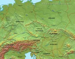 Detailed Map Of Germany by Central Europe Physical Map