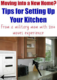 moving into a new home how to set up your kitchen organizing