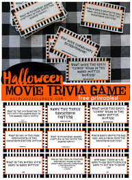 halloween trivia game with free printables kids version and