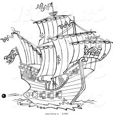 pirate ship coloring pages high seas pirate ship coloring pages