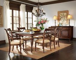 rectangle glass dining table on carved cream teak wood base added