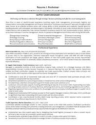 resume writing for experienced chain resume supply chain resume