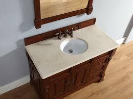 abstron 48 inch cherry finish single traditional bathroom vanity