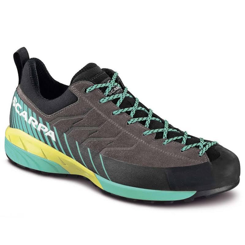 Scarpa Mescalito Approach Shoes Titanium/Green Blue Medium 41.5 72100/352-TitGblu-41.5