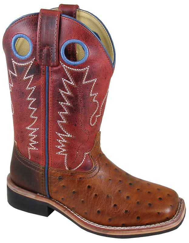 Smoky Mountain Childs Square Toe Red Boots 1