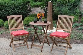 Patio Furniture Counter Height Table Sets - amazon com outdoor interiors eucalyptus 3 piece round bistro