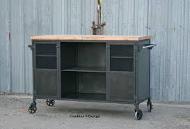 buy a custom made vintage industrial bar cart kitchen island
