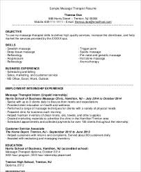 Therapist Resume Examples by Sample Massage Therapist Resume 7 Examples In Word Pdf