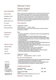 Financial Resume Sample by Finance Analyst Resume Analysis Sample Example Modelling