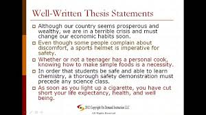 thesis statement format In persuasive writing  many students have trouble writing a clear thesis statement on what their