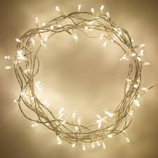 indoor fairy lights with 100 warm white leds on 8m of clear cable