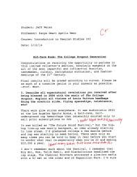 College essay examples of a personal statement Millicent Rogers Museum