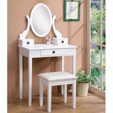 Linon Home Decor Vanity Set With Butterfly Bench Black Makeup Tables And Vanities You U0027ll Love Wayfair
