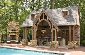 outdoor kitchen and fireplace designs ideas