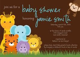 Sensational Theme by Zoo Themed Baby Shower Invitations Theruntime Com