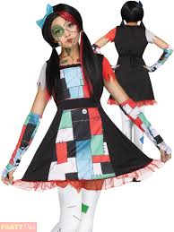 broken doll halloween costume girls rag doll costume ebay