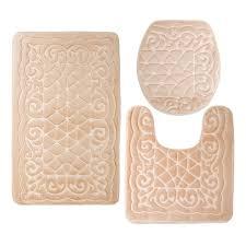 Round Bathroom Rugs by Elvoki Com Elvoki 3 Piece Bathroom Rug Mat Set Memory Foam And