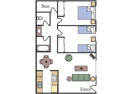 Two Bedroom Apartment Floor Plans Floor Plans And Pricing Aggie Square Apartments