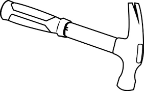 coloring pages of tools hammer outline colouring page colouring tube