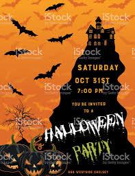 halloween vector art halloween party invitation template stock vector art 600406456