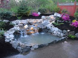 Unique Backyard Ideas by Unique Backyard Waterfall Designs 48 With Additional Home