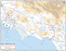 Italy Region Map by Map Of Italy Anzio Cassino Region 1944