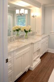Bathroom Cabinet With Mirror And Light by Double Vanity With Cabinet Storage On Either Side Lighting Built