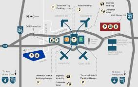 Chicago Parking Map by Parking Orlando International Aiport Mco