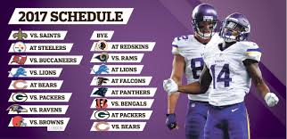 lions bears thanksgiving vikings u0027 2017 schedule littered with potholes but has soft spots