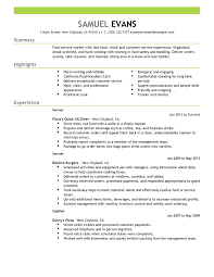 Cover Letter  The Balance Hospitality Resume Writing Example As Food Service With Summary And Highlights