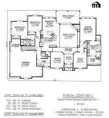 duplex house plan with garage stupendous four bedroom plans simple