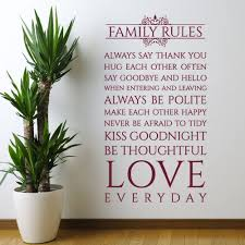 popular family rules decal buy cheap family rules decal lots from family rules wall decal vinyl sticker interior home art murals bedroom home decor wall sticker x465