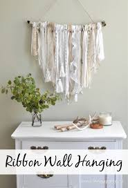 ribbon wall hanging an easy diy project that will make a fabulous
